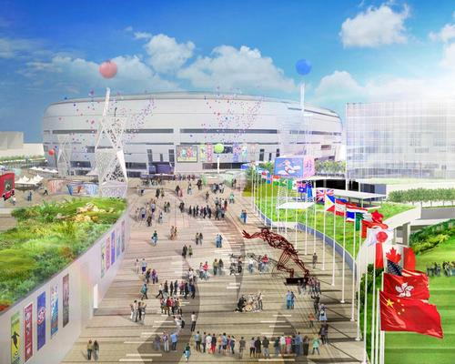 Plans for the project include a 50,000-capacity stadium, a public sports ground, an indoor sports centre, a 60,000sq m retail and dining area and 8 hectares of open space / Kai Tak Sports Park