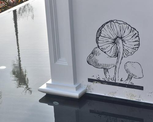 Hand-drawn illustrations are hidden throughout the resort / JW Marriott/Bensley
