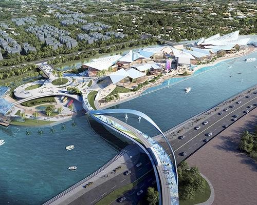 The 32,000sq m (34,400sq ft) project is the second phase of the wider Sanya Eyot leisure resort scheme / Benoy