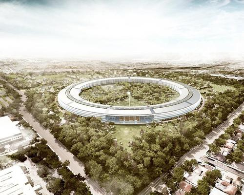 The Foster + Partners-designed complex takes the form of a giant ring, designed to change staff behaviour by putting all staff members under one roof