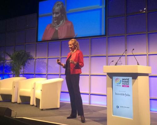 GWI chair and CEO Susie Ellis presents at the World Travel Market in London last year
