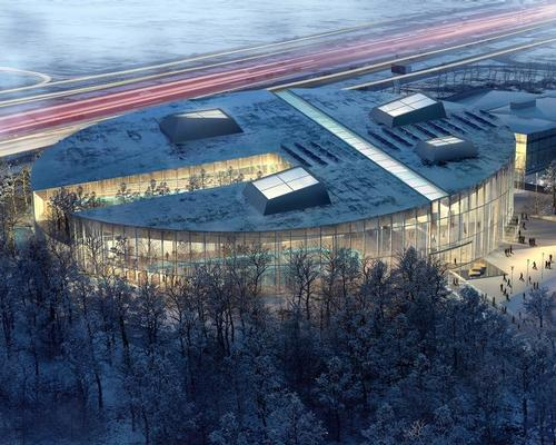 The design competition jury had called for submissions imagining the new complex as a vital civic centre, subtly integrated into the woodland ecosystem / City of Laval/v2com