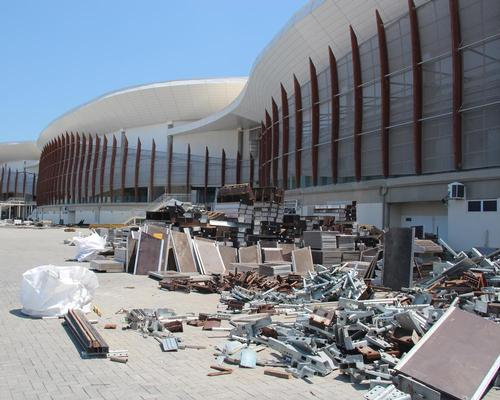 Waste has been dumped in the yards of the Arenas Carioca 1, Carioca 2 and Carioca 3 at the Olympic Park / Isaac Risco-Rodriguez/DPA/PA Images