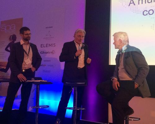Ben Gill, Professor Terry Stevens and Steve Nygren discuss wellness communities at the World Spa & Wellness Conference in London earlier this week