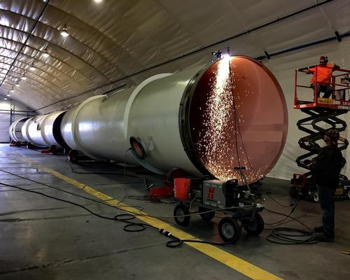 Hyperloop is a high-speed transport system, where pods in large tubes are projected by magnetic levitation / Hyperloop One