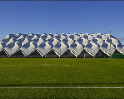 Reiach and Hall worked on the Oriam sports complex, the roof of which was inspired by a Roberto Carlos free kick