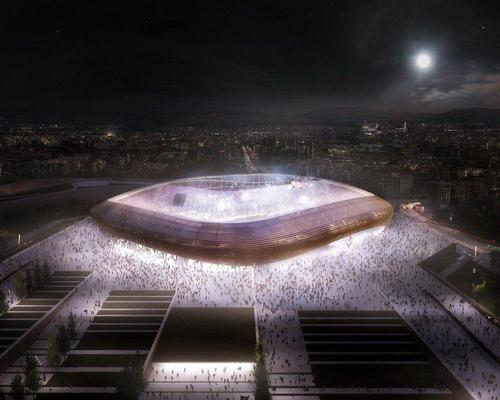 The ground will be located in Florence and cost around €420m (£367.2m, US$448m) to build / Arup