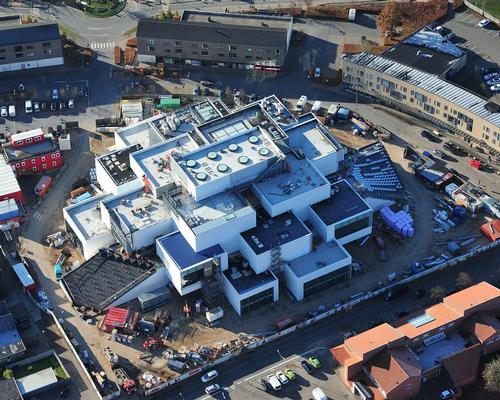 The visitor attraction – built to resemble a giant stack of Lego bricks – is rapidly taking shape, and an opening date of 28 September has been announced / The LEGO Group