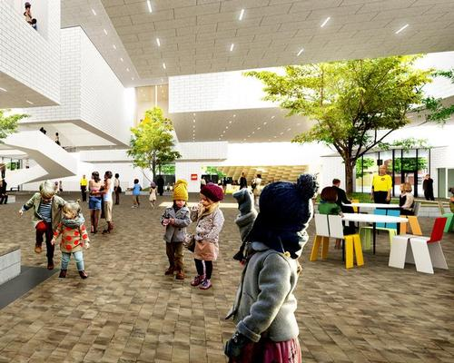 The ground floor zone will be free to the public / The LEGO Group