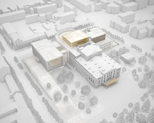 David Chipperfield Architects' first design for Perm opera house and theatre, which won a design competition in 2010 / David Chipperfield Architects
