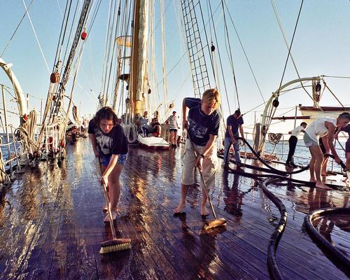 Young novices working on historic ships are among those included in training schemes for Skills for the Future