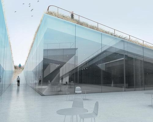 Glass windows and skylight will allow natural light to enter the complex / BIG