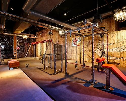 Traditional gym equipment features alongside the unusual design features / John Reed