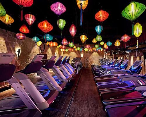 Paper lanterns light up the treadmill area / John Reed