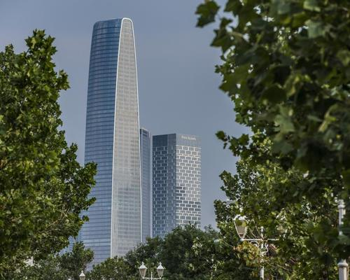 Rising above the city's central business district, the Four Seasons Tianjin is housed in one of two new towers / WATG