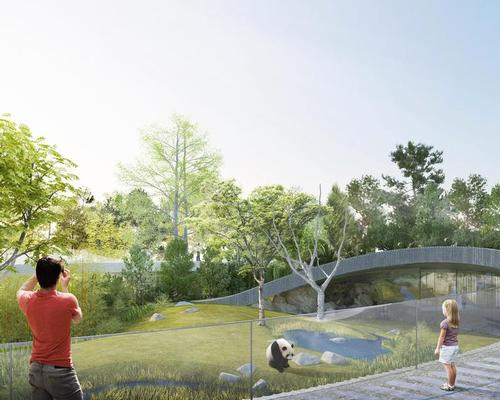 The new exhibit will house two giant pandas that China has offered to Denmark / Bjarke Ingels Group