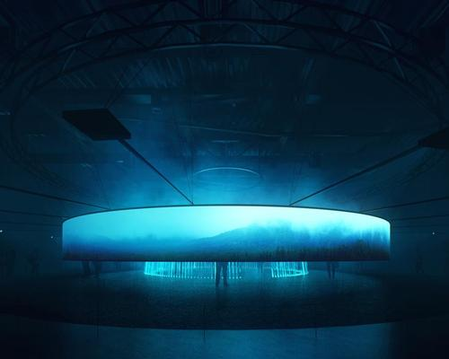 Musician Brian Eno will compose a continuous sound work for the pavilion to narrate 'the timeline of energy' / Asif Khan