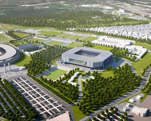 The new stadium will be built in the shadow of Hertha's current home, the Olympiastadion
