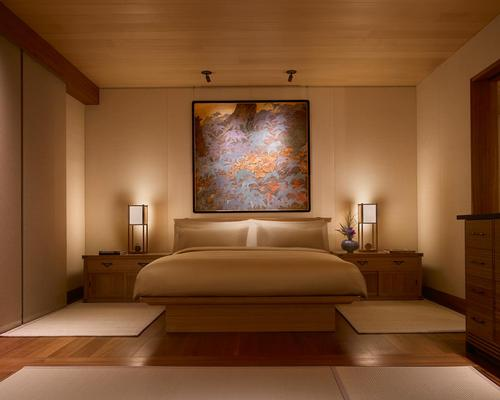 Each guest room is designed to incorporate natural California views and Japanese design elements / Barbara Kent