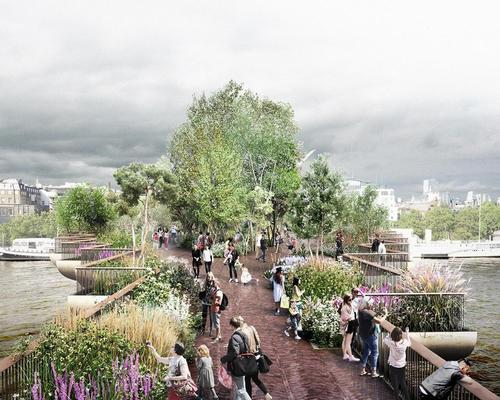 The Garden Bridge Trust are set to meet London mayor Sadiq Khan / Garden Bridge Trust