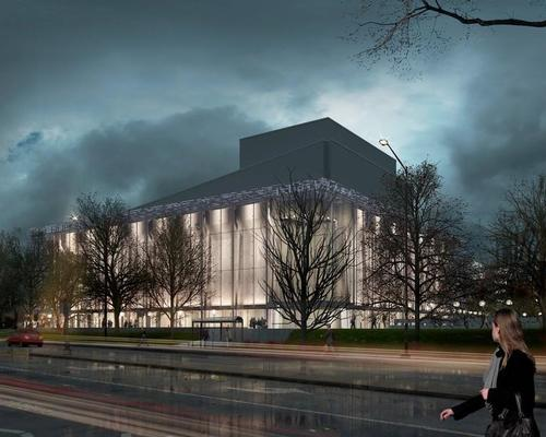 The envelope will protect the theatre's fragile concrete panels / Grand Théâtre de Québec
