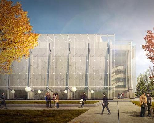 A new protective 5,900sq m (63,500sq ft) glass casing will be integrated with the building to form a double façade / Grand Théâtre de Québec