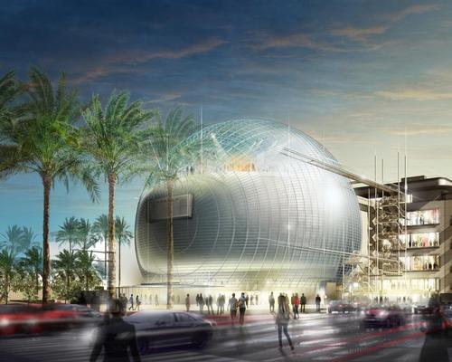 Construction is now reaching a crucial stage in development, with the 130-foot glass sphere likened by some to the Death Star, about to be built