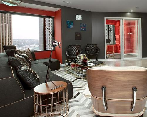 The suite will be a private music studio, writer's room and lounge for musicians and producers / W Hotels