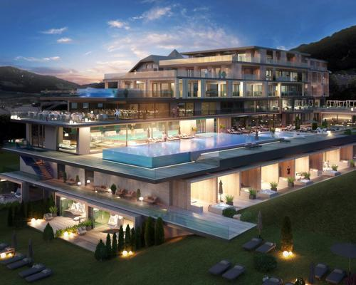 Built with an investment of €3.2m (US$3.4m, £2.7m), the spa is part of a new addition to the hotel that also includes luxury suites and restaurants designed by architect Astrid Steinwandter