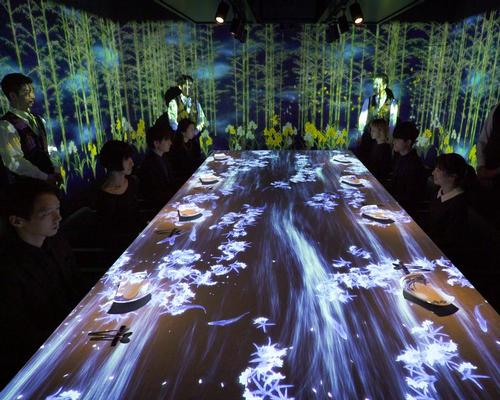 The walls shift in light and pattern to reflect Japan's changing seasons / teamLab