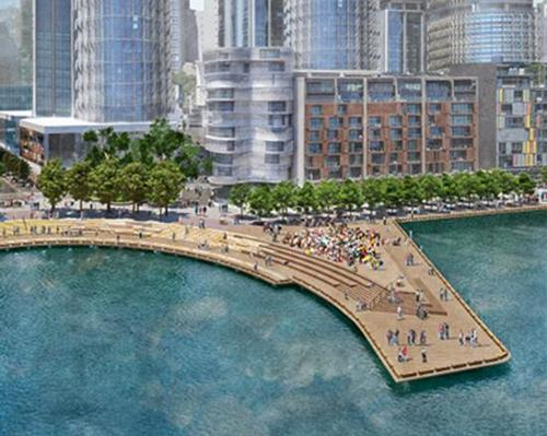 An expanded waterfront walkway and a public pier will feature / Barangaroo Delivery Authority