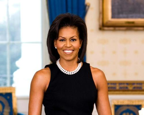 Obama was making her first public appearance since leaving the White House in January  / Wiki Commons