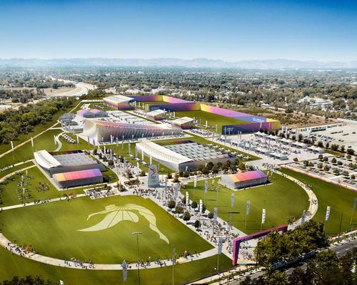 In keeping with LA's sustainability-first and low-risk pitch for the Games, the Valley Sports Park is comprised of temporary facilities combined with existing venues / LA 2024