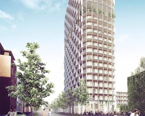 The building will be a 'significant destination' for the district of Lilludden – complete with bars, restaurants and a public square / C.F. Møller