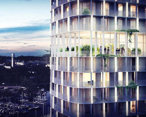 A panoramic garden will wrap around the 15th storey / C.F. Møller