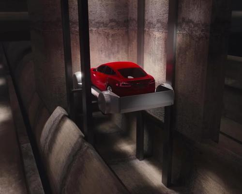 The car would be gradually dropped into the underground tunnel network / The Boring Company