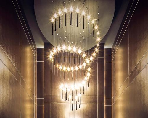 The moon and the stars have inspired the lighting design / Wilson Associates
