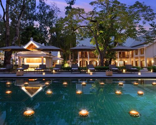 The hotel is built around a leafy courtyard with a 25m (82ft) swimming pool and an old shade-bearing banyan tree with a sacred legacy