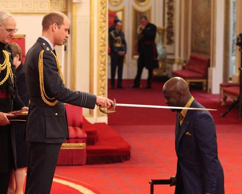 Sir David Adjaye received his award from Prince William, Duke of Cambridge at an official Investiture ceremony held at Buckingham Palace. / Yui Mok/PA Wire/PA Images