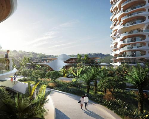 The site contains a number of sport, leisure and wellness amenities situated on an elevated platform / MIR