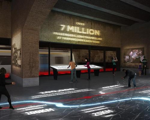 Everyday commuters could become exhibits if the Museum of London makes a train tunnel that runs through the new site see-through