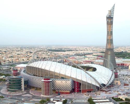 The Khalifa International Stadium, first built in 1976, has been extensively renovated and expanded by local architecture firm Dar Al-Handasah to hold 40,000 spectators / Supreme Committee for Delivery & Legacy