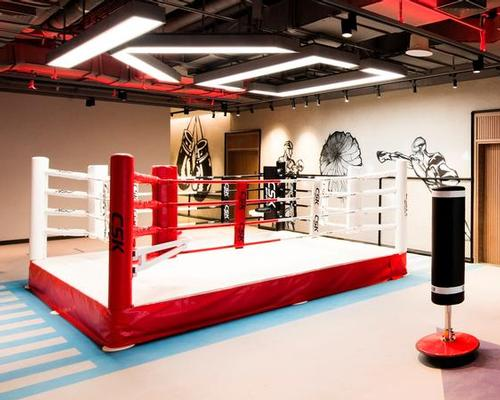 The gym will feature a Mixed Martial Arts area with a boxing ring / Hotel Jen Beijing