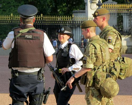 Security has been stepped up at locations such as Buckingham Palace following the attack