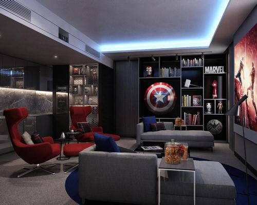 Four suites will have special cinematic themes, including one devoted to Hollywood's superheroes / Majid Al Futtaim