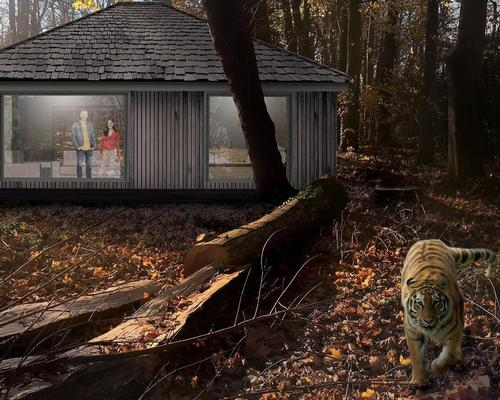 Featuring large picture windows, guests will be able to get face-to-face with Port Lympne's tigers from the comfort of their own accommodation
