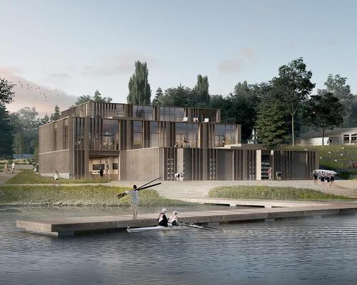 The concept behind the studio's winning design is that the 'classical disciplines of rowing intersect with other forms of leisure' / AART Architects