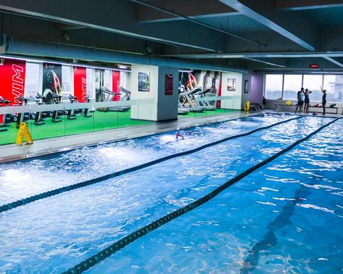 The multi sports zone offers swimming, biking and running