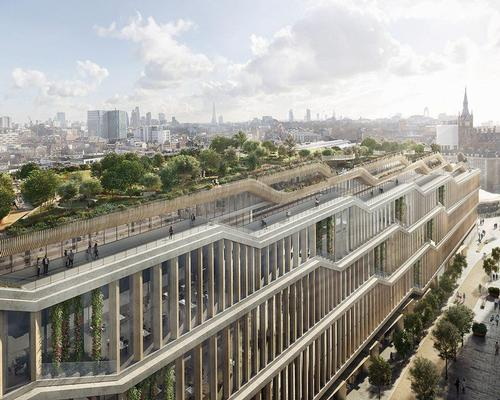 A vast garden roof, that has already drawn comparisons with Heatherwick's planned Garden Bridge, will top the building / Heatherwick Studio and BIG