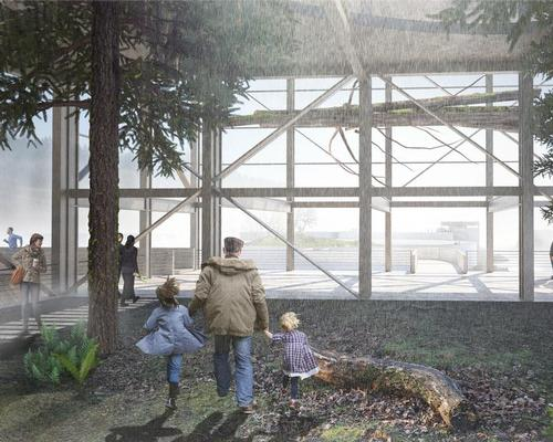 The project is conceived as a series of islands with three main lookout stations / Snøhetta